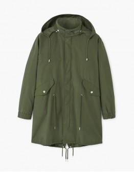 Мужское зелёное пальто